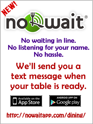 Ad and link for NoWait Service